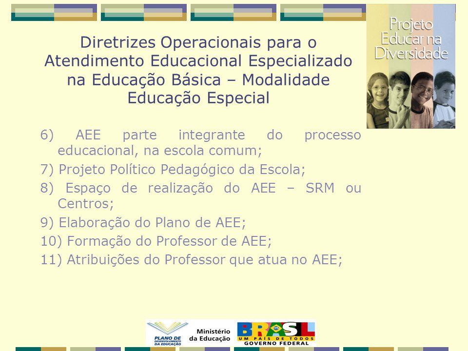 Diretrizes Operacionais para o Atendimento Educacional Especializado na Educação Básica – Modalidade Educação Especial