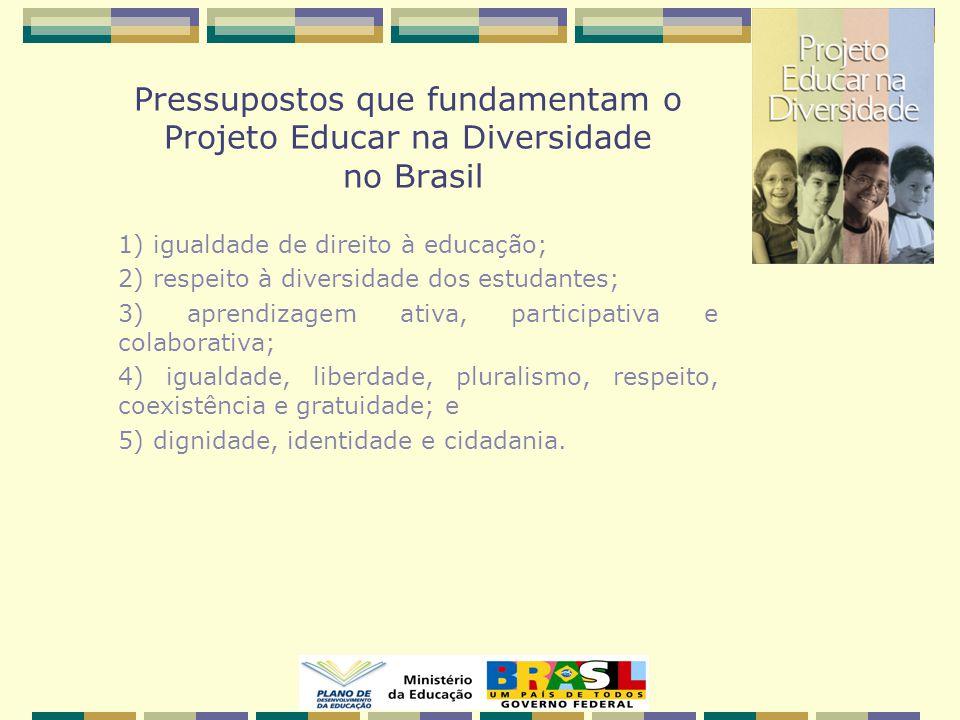 Pressupostos que fundamentam o Projeto Educar na Diversidade no Brasil