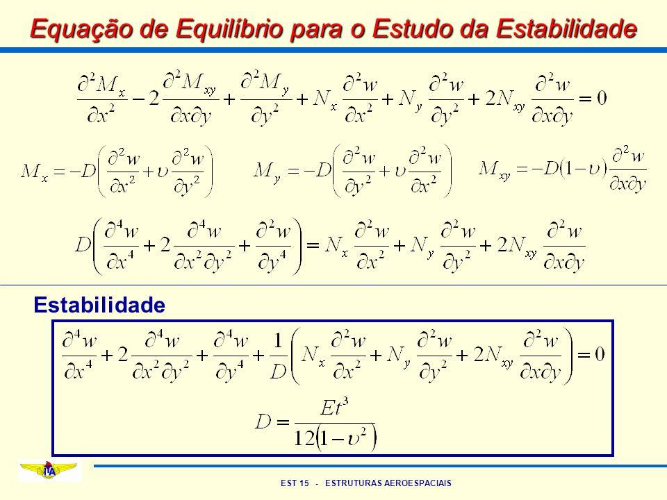 Equação de Equilíbrio para o Estudo da Estabilidade