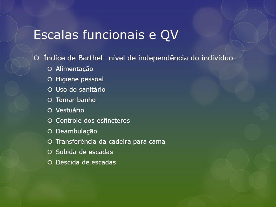 Escalas funcionais e QV