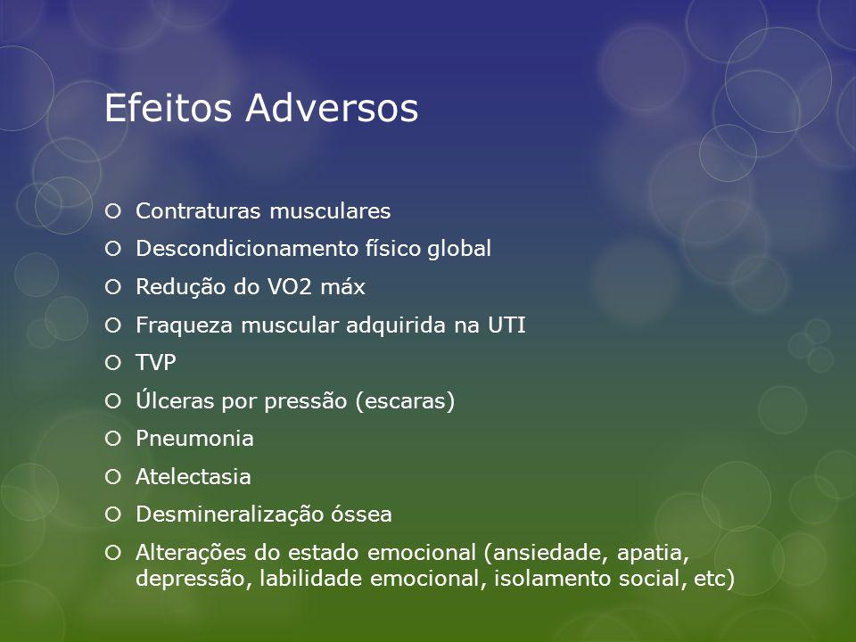 Efeitos Adversos Contraturas musculares