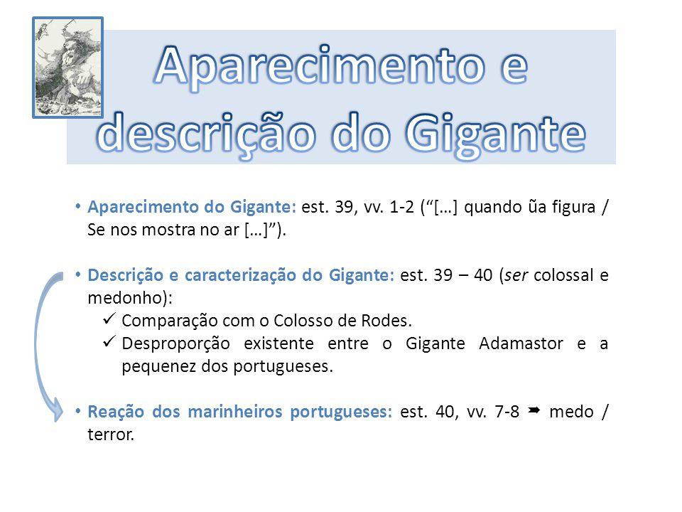 Aparecimento e descrição do Gigante