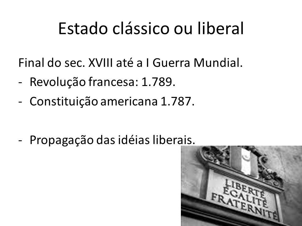 Estado clássico ou liberal