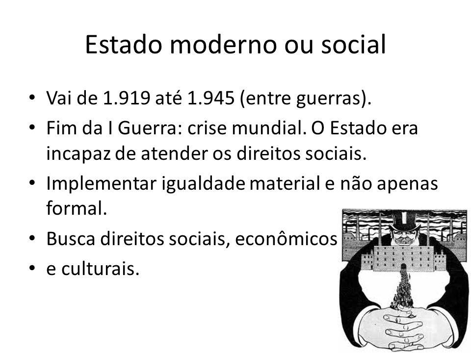 Estado moderno ou social