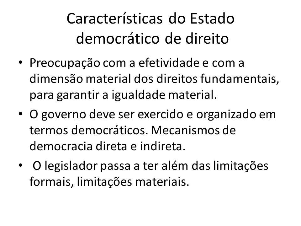 Características do Estado democrático de direito