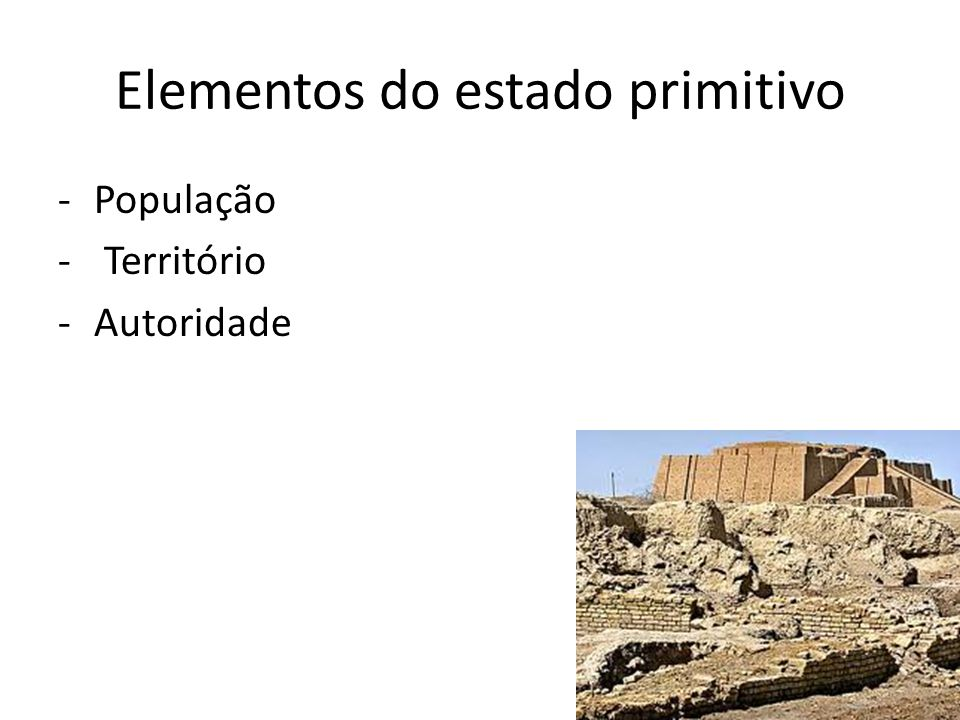 Elementos do estado primitivo
