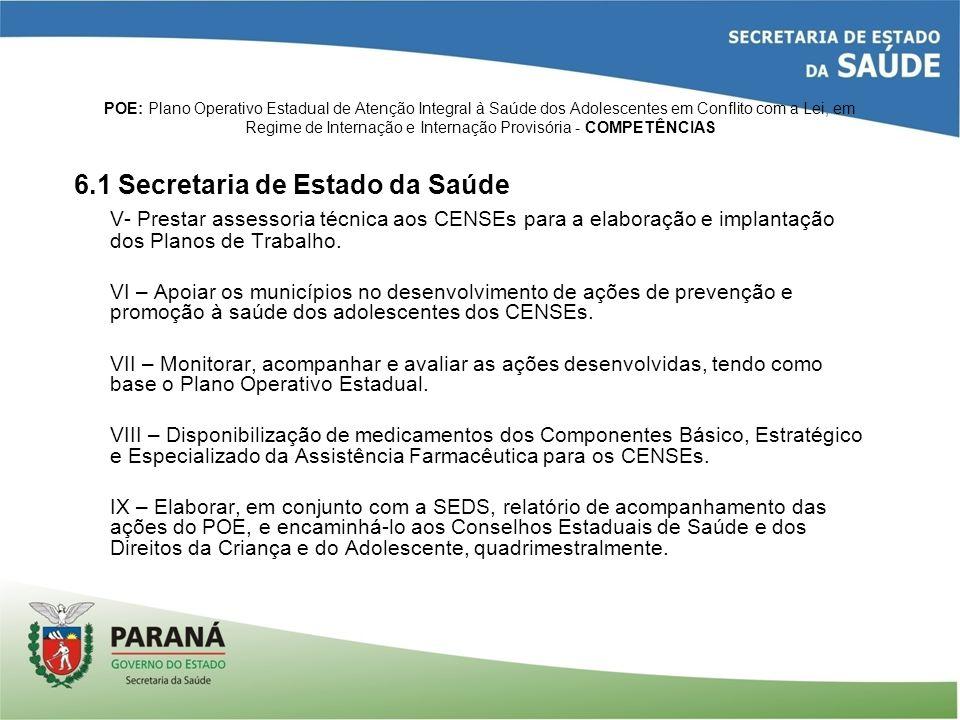 6.1 Secretaria de Estado da Saúde