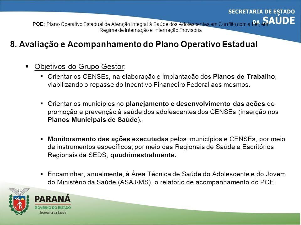 8. Avaliação e Acompanhamento do Plano Operativo Estadual