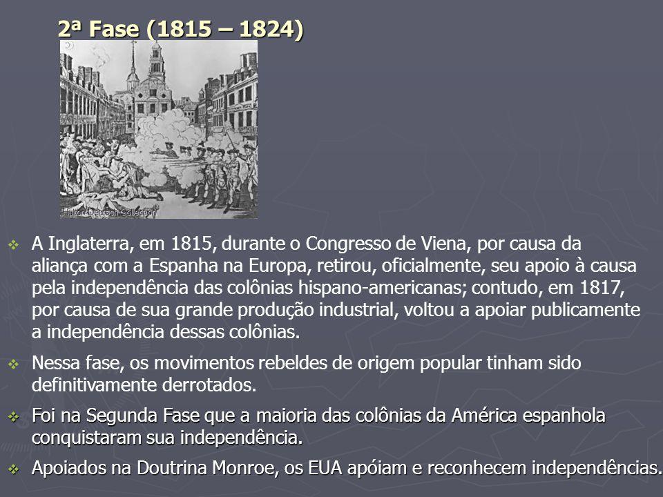 2ª Fase (1815 – 1824)