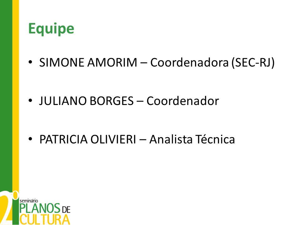 Equipe SIMONE AMORIM – Coordenadora (SEC-RJ)
