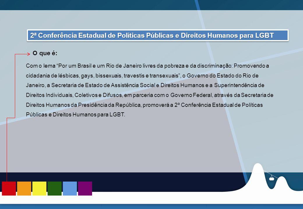 REUNIÃO DAS ASCOMs 2ª Conferência Estadual de Políticas Públicas e Direitos Humanos para LGBT. O que é: