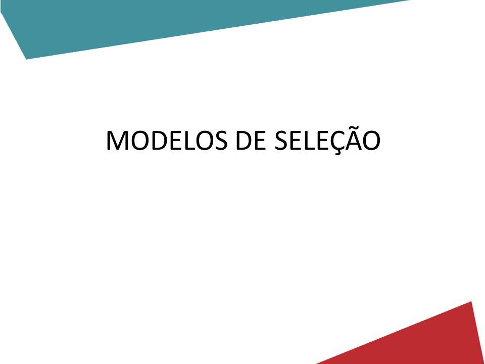 MODELOS DE SELEÇÃO