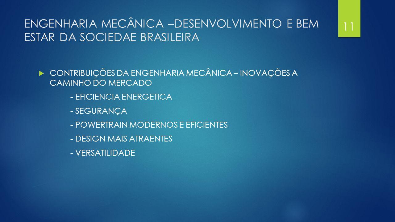 ENGENHARIA MECÂNICA –DESENVOLVIMENTO E BEM ESTAR DA SOCIEDAE BRASILEIRA