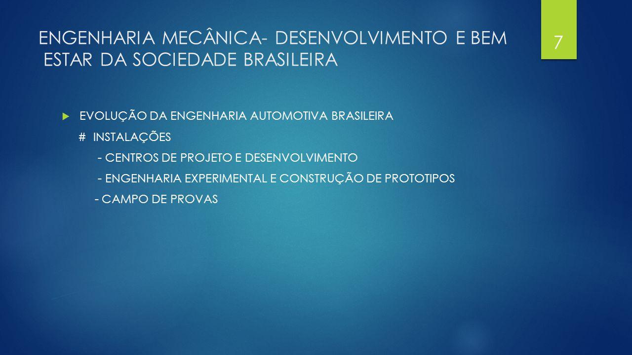 ENGENHARIA MECÂNICA- DESENVOLVIMENTO E BEM ESTAR DA SOCIEDADE BRASILEIRA