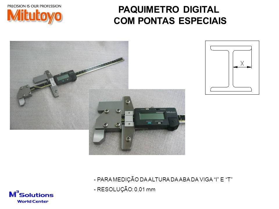 PAQUIMETRO DIGITAL COM PONTAS ESPECIAIS