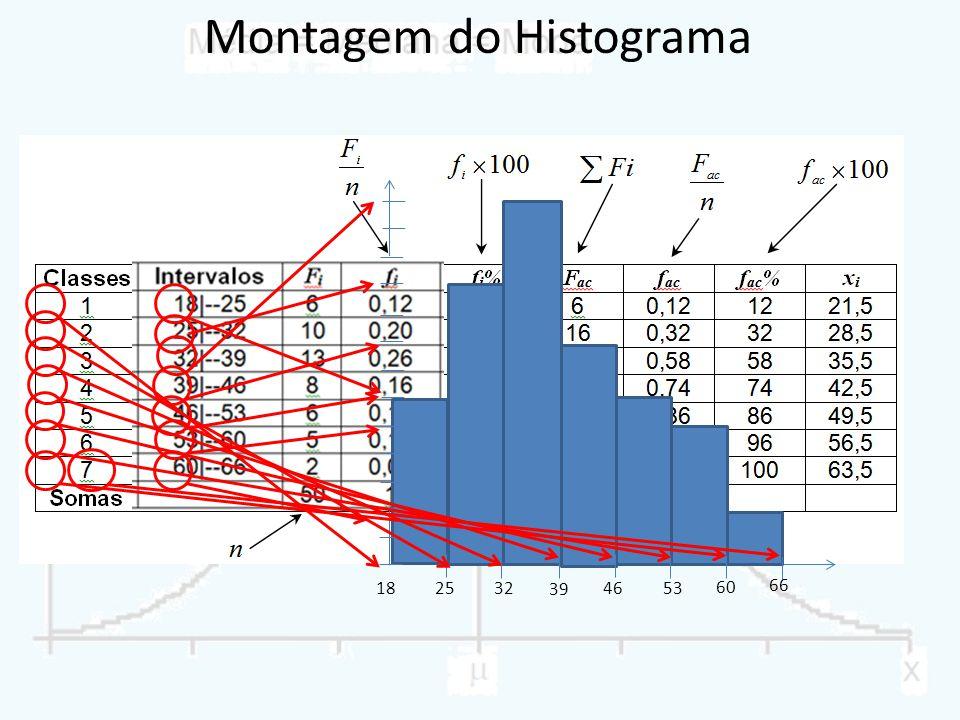 Montagem do Histograma
