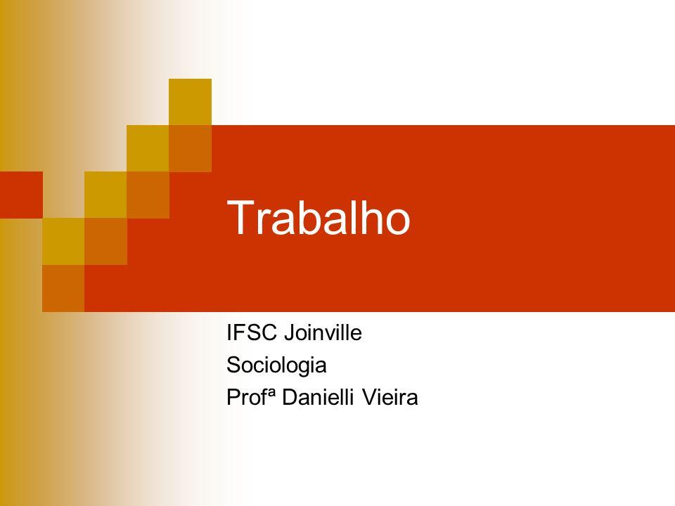 IFSC Joinville Sociologia Profª Danielli Vieira