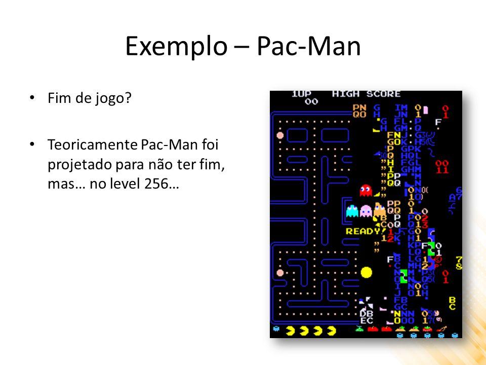 Exemplo – Pac-Man Fim de jogo