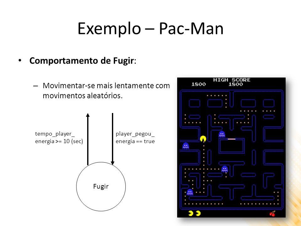 Exemplo – Pac-Man Comportamento de Fugir: