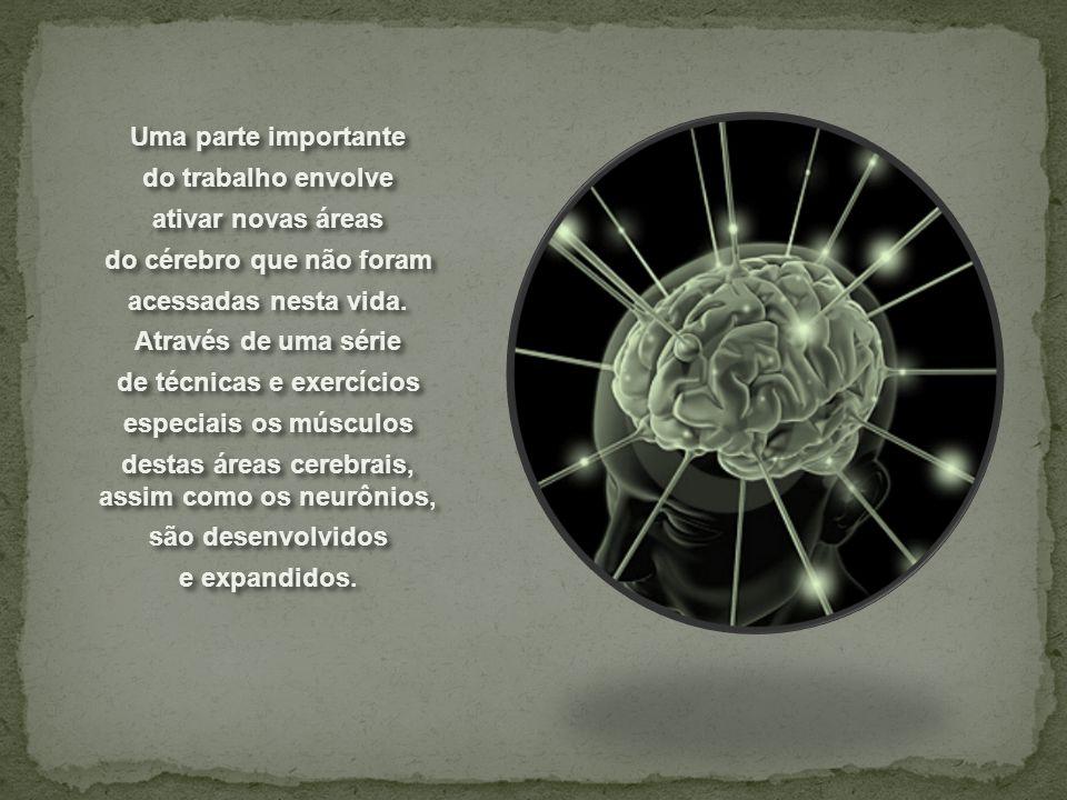 do cérebro que não foram acessadas nesta vida. Através de uma série