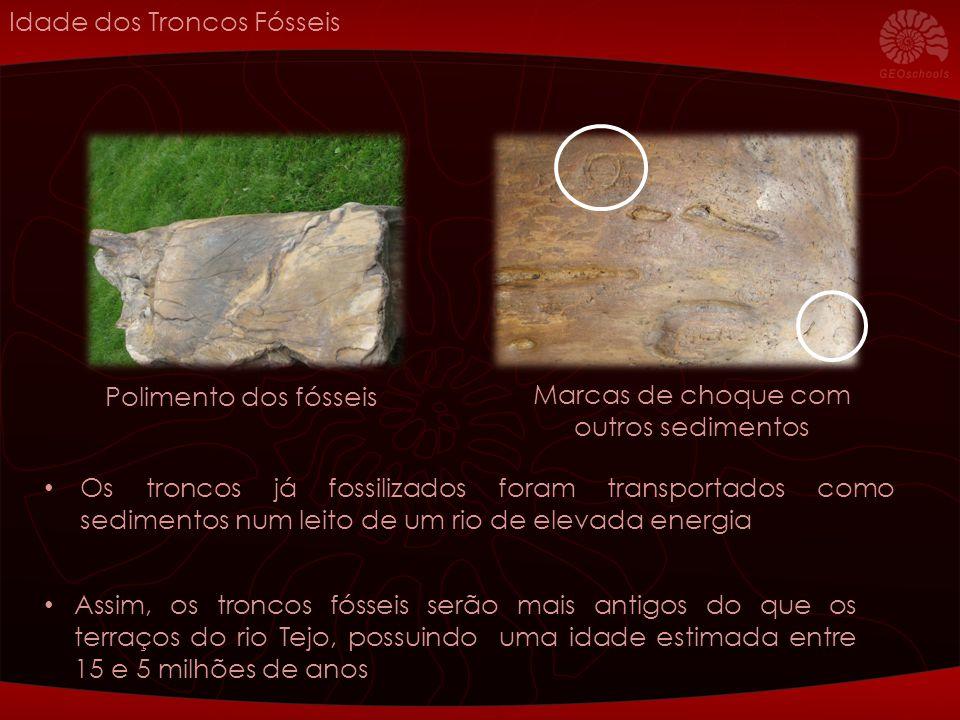 Marcas de choque com outros sedimentos
