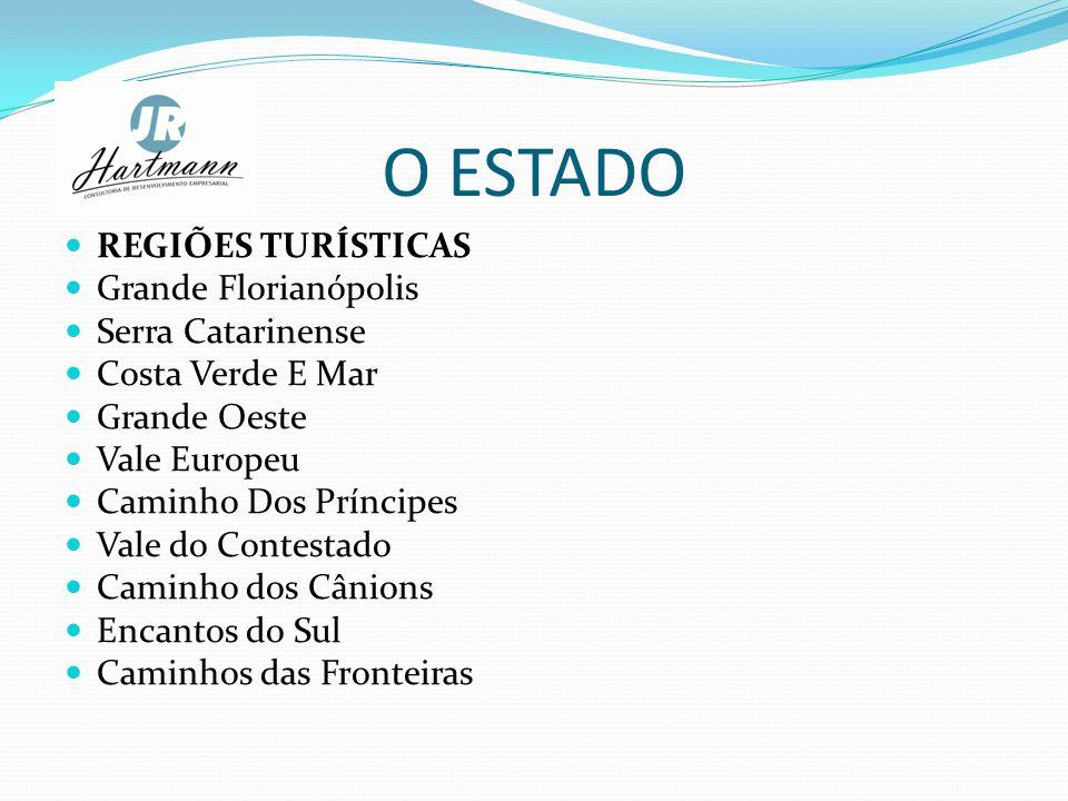 O ESTADO REGIÕES TURÍSTICAS Grande Florianópolis Serra Catarinense