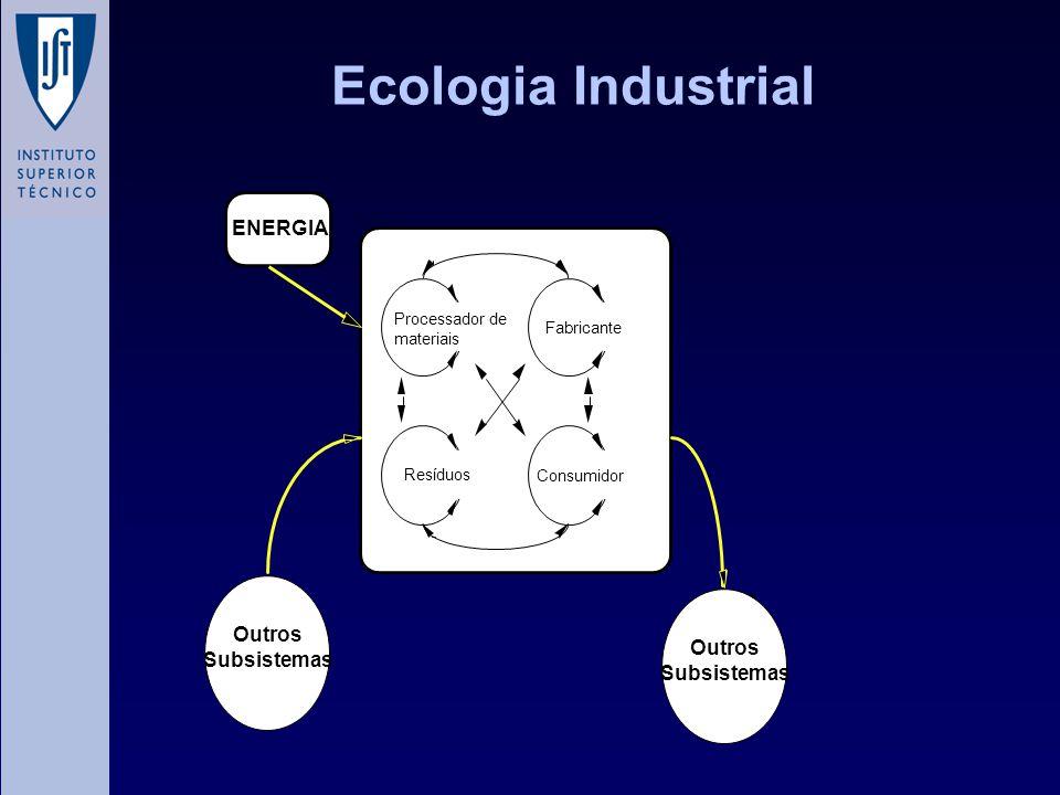Ecologia Industrial ENERGIA Outros Subsistemas Outros Subsistemas
