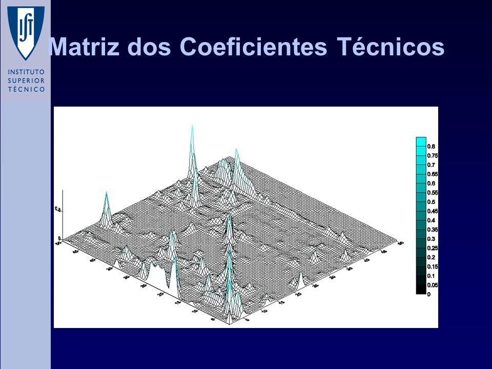 Matriz dos Coeficientes Técnicos