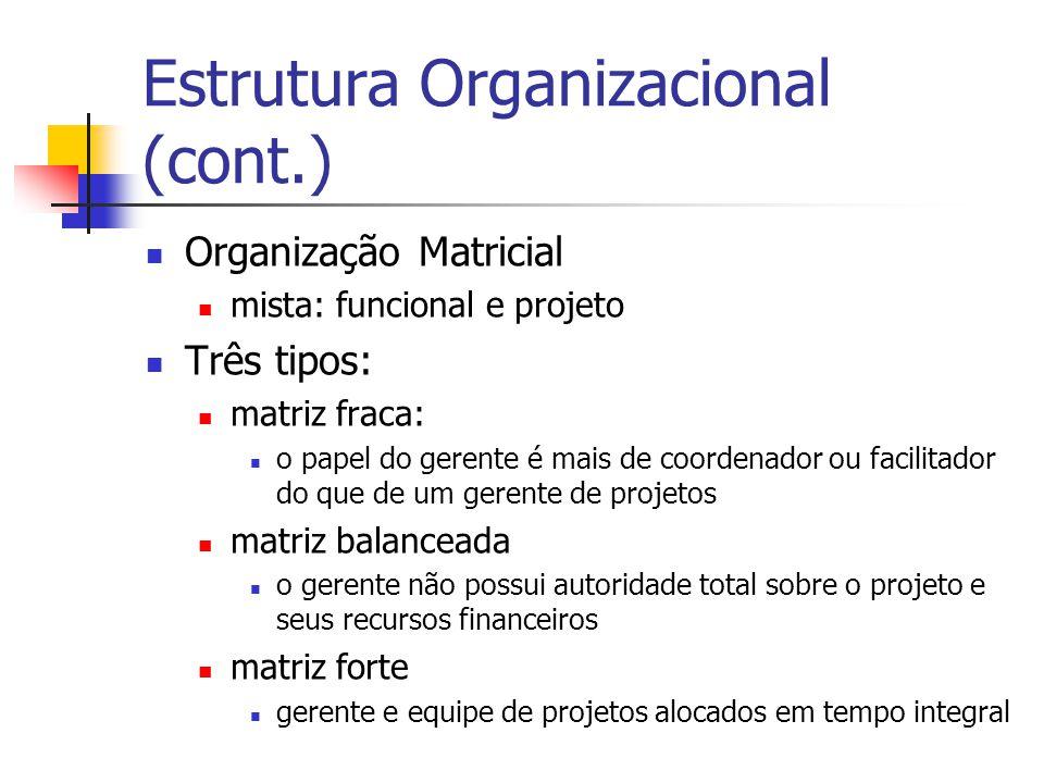 Estrutura Organizacional (cont.)