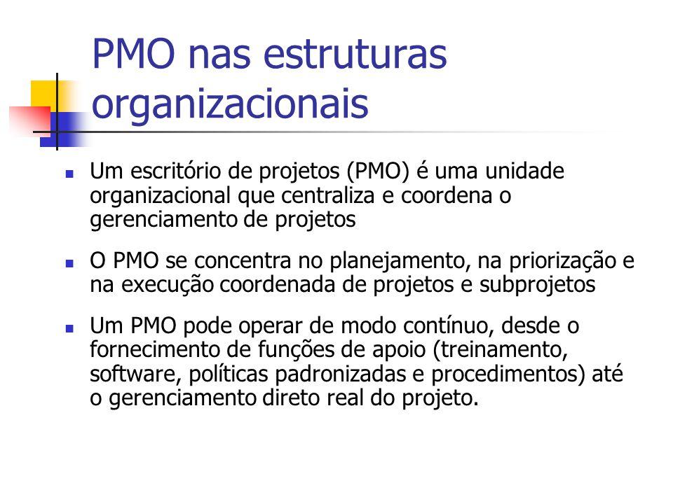 PMO nas estruturas organizacionais