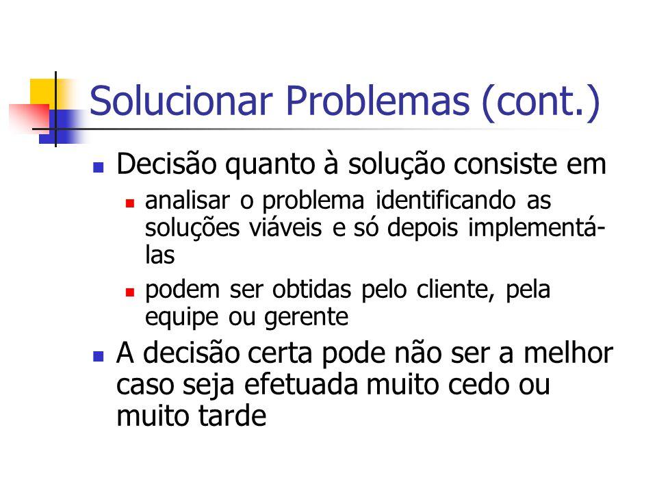 Solucionar Problemas (cont.)