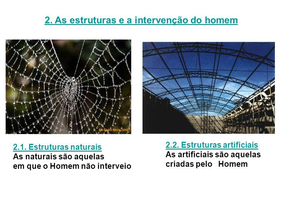 2. As estruturas e a intervenção do homem