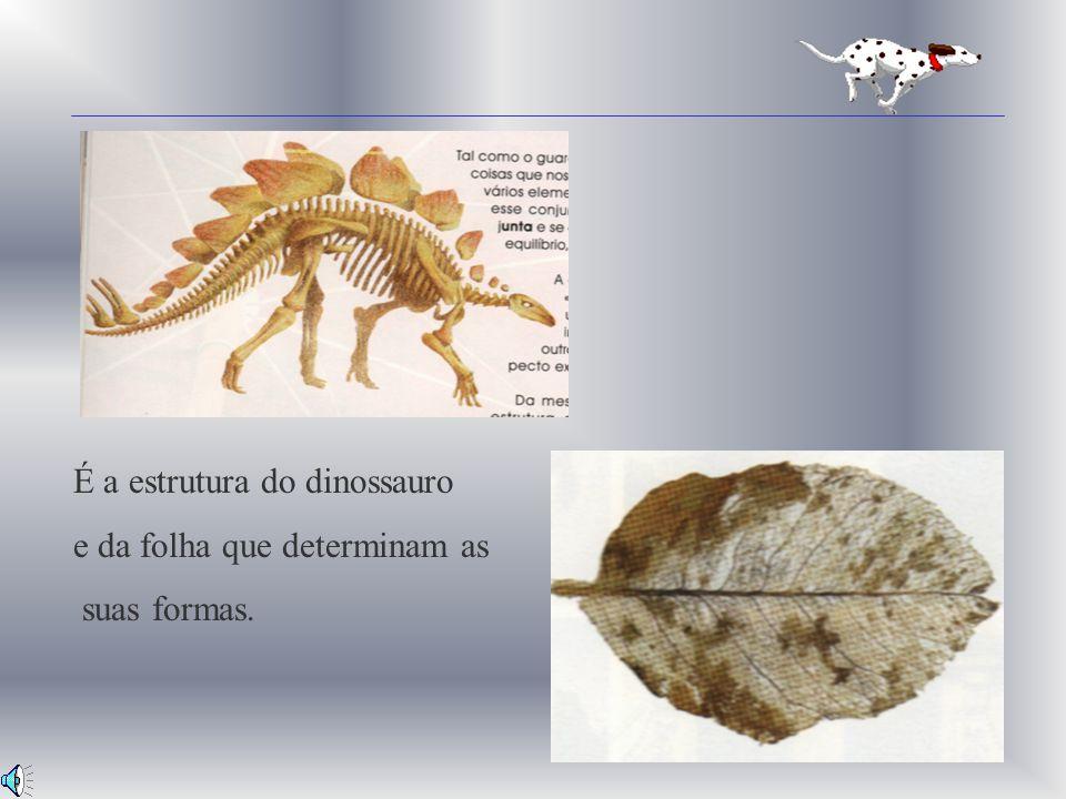 É a estrutura do dinossauro