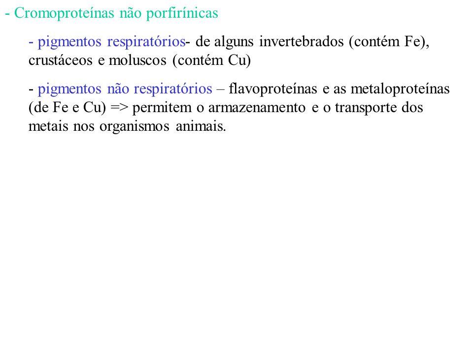 Cromoproteínas não porfirínicas