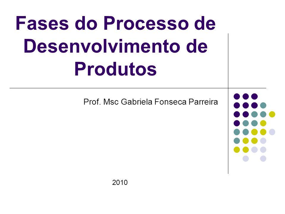 Fases do Processo de Desenvolvimento de Produtos