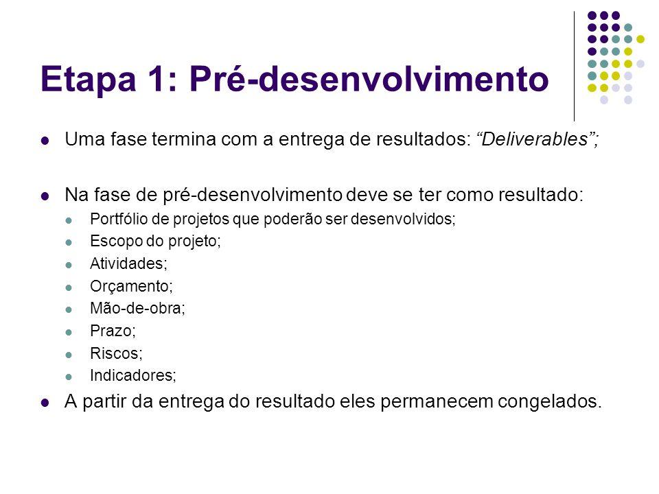 Etapa 1: Pré-desenvolvimento