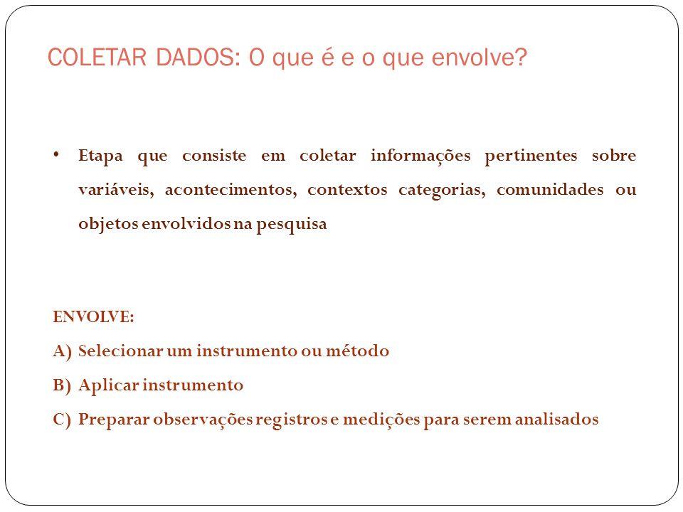 COLETAR DADOS: O que é e o que envolve