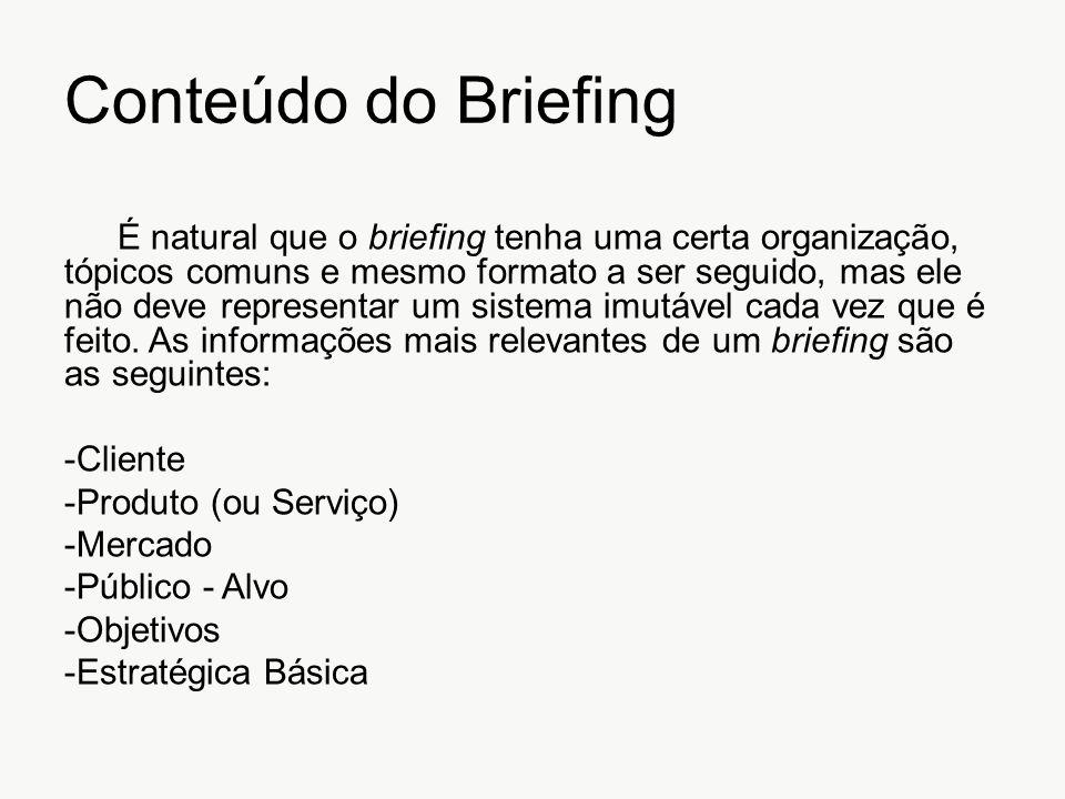 Conteúdo do Briefing