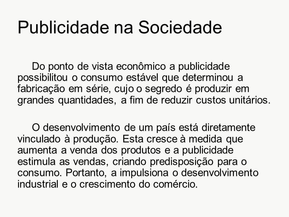 Publicidade na Sociedade