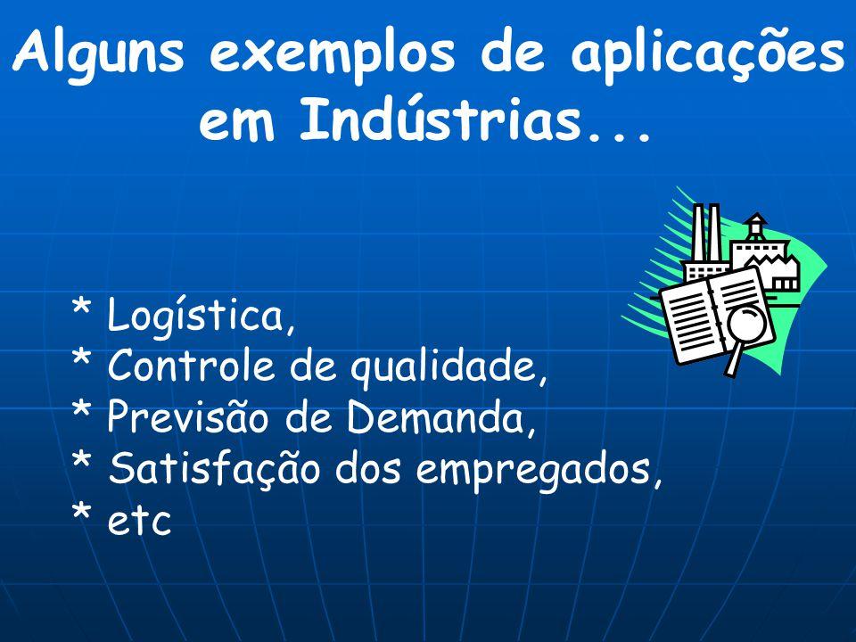 Alguns exemplos de aplicações em Indústrias...