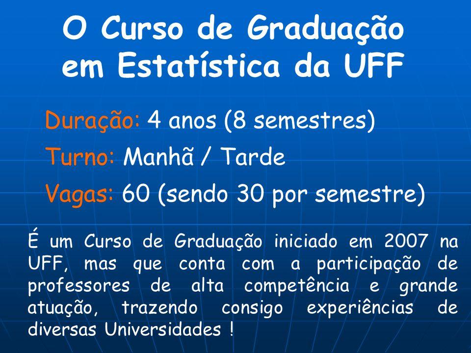 O Curso de Graduação em Estatística da UFF