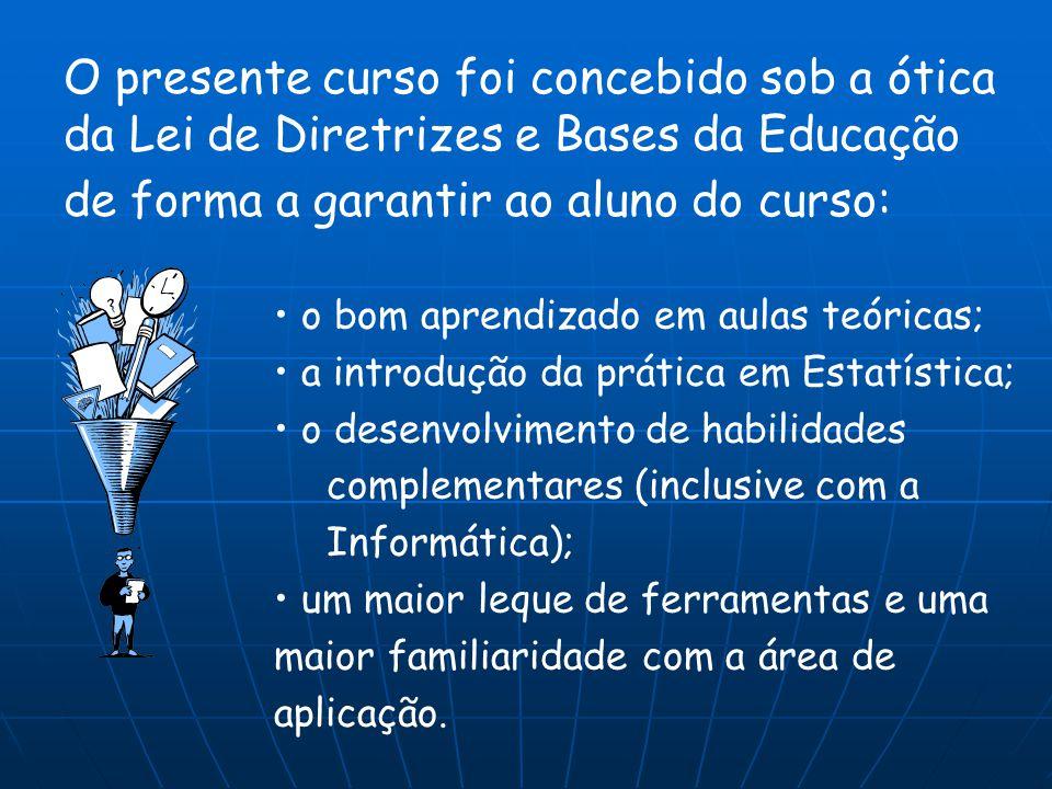 de forma a garantir ao aluno do curso: