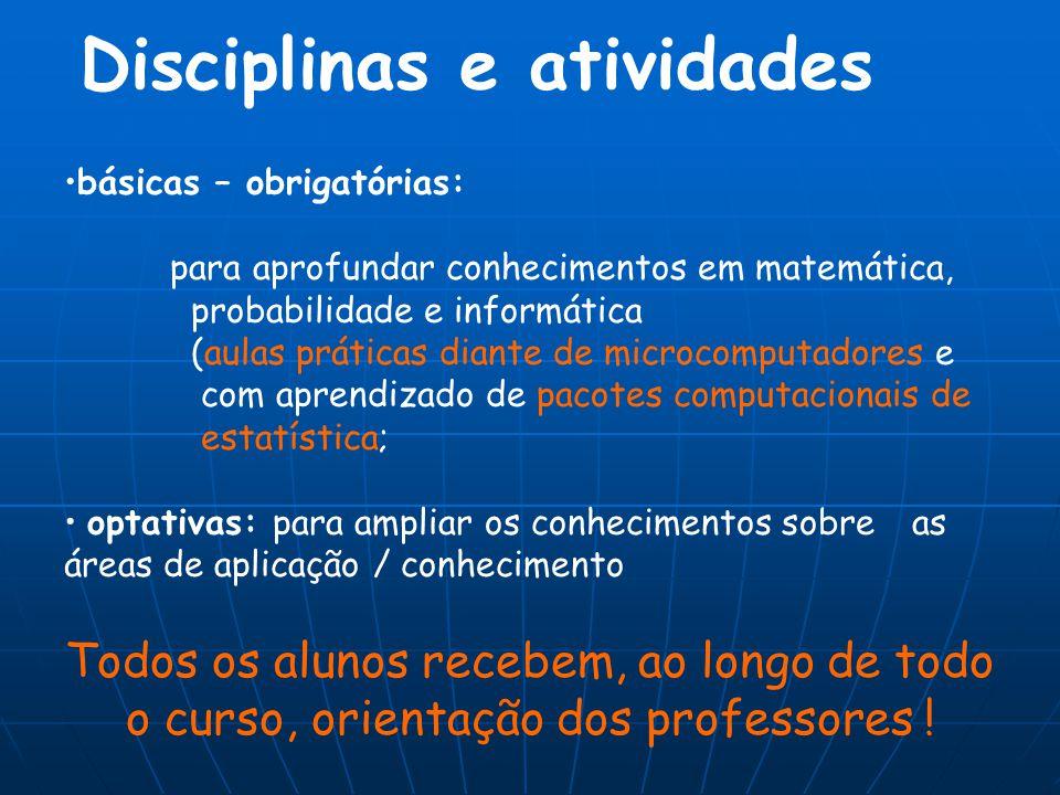 Disciplinas e atividades
