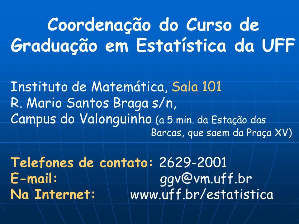 Coordenação do Curso de Graduação em Estatística da UFF
