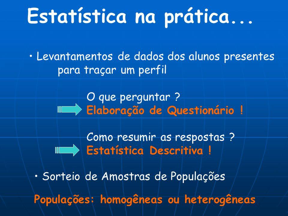 Estatística na prática...