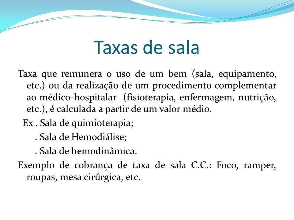 Taxas de sala