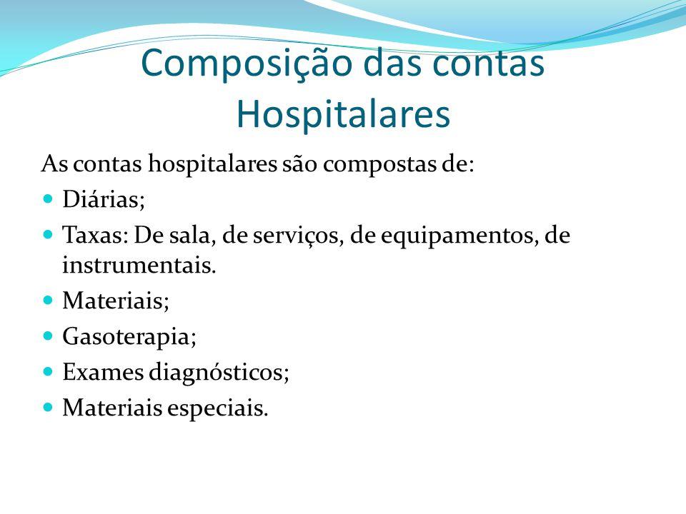 Composição das contas Hospitalares