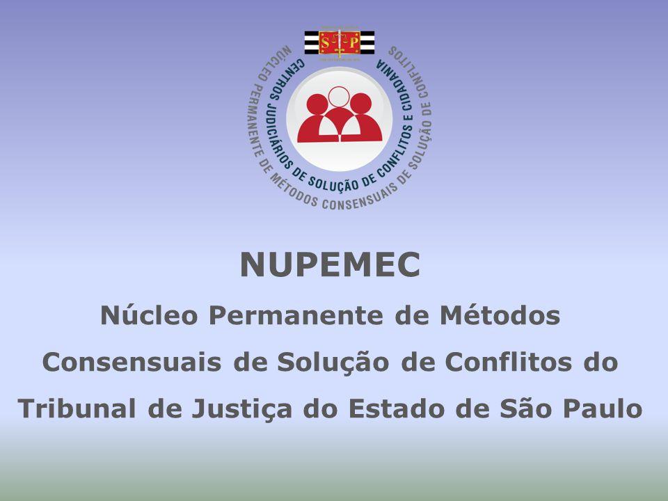 NUPEMEC Núcleo Permanente de Métodos Consensuais de Solução de Conflitos do Tribunal de Justiça do Estado de São Paulo.