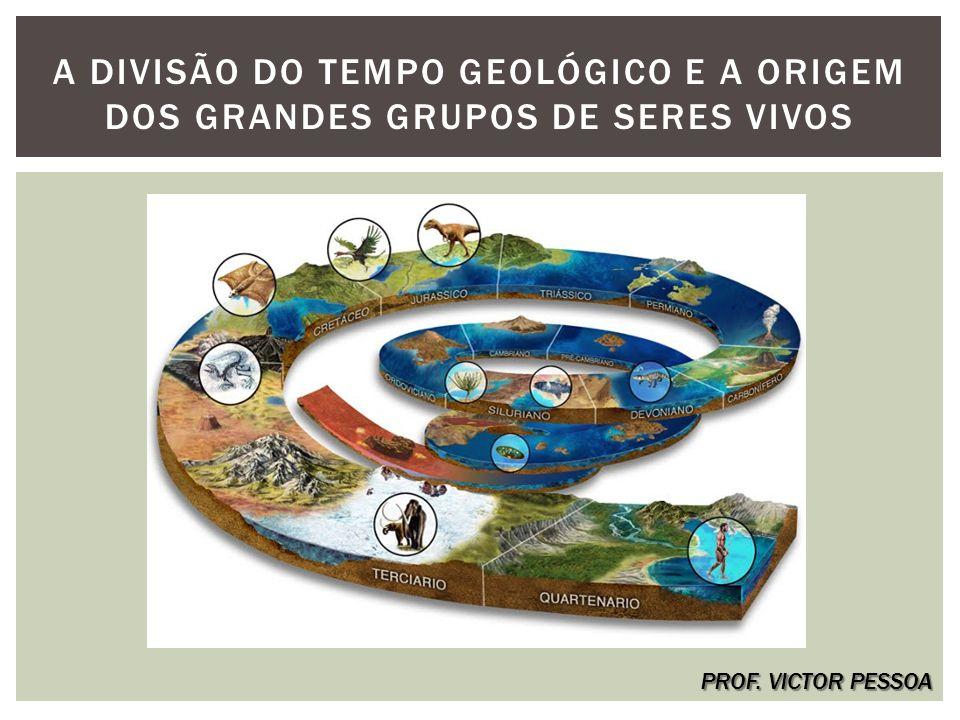 A DIVISÃO DO TEMPO GEOLÓGICO E A ORIGEM DOS GRANDES GRUPOS DE SERES VIVOS