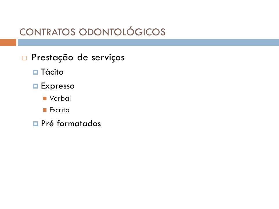 CONTRATOS ODONTOLÓGICOS